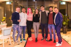 Online Stars unter sich. Swiss Comedy TV-Raffala Zollo- inkl. Influencer Management, Jeannine, DanielKoss & Samuel Roy von Yxterix AG-Eventagentur-Party-Emotion.Company-Marc Zehnder.